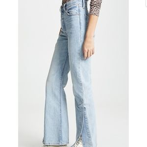 NWT Levi's Ribcage split flare jeans
